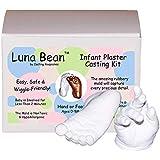 Luna Bean Baby Keepsake Hand Casting Kit - Plaster Hand Mold Casting Kit for Infant Hand & Foot Mold - Baby Casting Kit for F