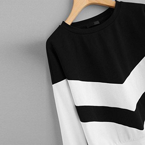 Bianco Scamosciata Pullover Size Moda Jiameng Da Crop Ragazza Lunghe Tops Della Donna E Cappotto Patchwork Maniche Casuale Maglione Plus Bluse Splicing Felpa Top Tendenza x0TRgx1