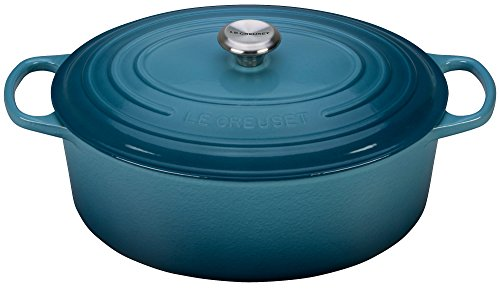 Blue Oval French Oven - Le Creuset Signature Enameled Cast-Iron 9.5 Quart Oval French (Dutch) Oven, Marine