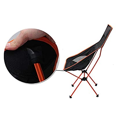 DEXING Camping Chairs, Lightweight Camping Chairs with 330pound Capacity, Built-in Headrest and Carry Bag, Portable Foldable Heavy-duty High Back Camping Chair For Picnic Beach Backpacking Fishing: Kitchen & Dining