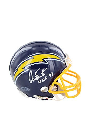 NFL San Diego Chargers Dan Fouts 1974-87 Model Replica Mini Helmet w/HOF 93 Insc by Steiner Sports