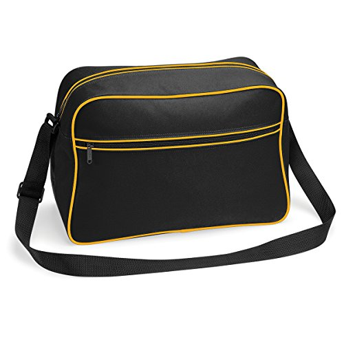 18l Gold Bolso Black Blanco Real Retro Bandolera Brillante Bagbase Con 48x28x18cm Regulable TB4qpFBO