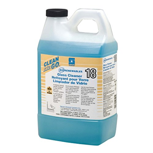 Spartan Clean on the Go 18 Biorenewables Glass Cleaner, 2 Liter Bottle, 4 Bottles Per Case by SPARTAN (Image #1)