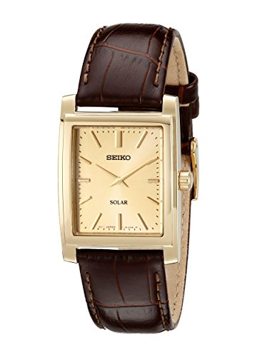 Gold Rectangular Wrist Watch - 4