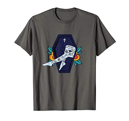 Zombie Pin Up Girl Legs w/ Tattoos Halloween T-Shirt -
