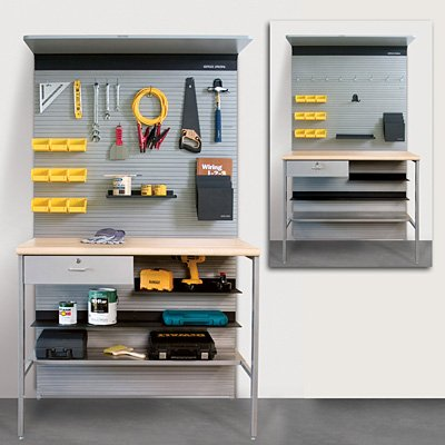 Uniweb-Grid Iron Panel System Assortment Storage Kit 400 by Uniweb-Grid Iron