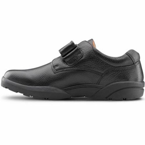 Dr. Dr. Comfort William Mænd Therapeutic Diabetic Extra Depth Dress Shoe Leather Velcro Sort Komfort William Mænds Terapeutisk Diabetisk Ekstra Dybde Kjole Sko Læder Velcro Sort TWXLGTAx