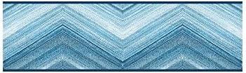 York Wallcoverings ポートフォリオII マウンテンパス ボーダー 取り外し可能 壁紙 ブルー