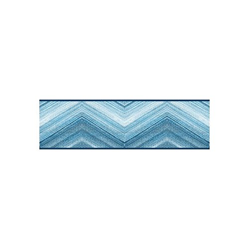 York Wallcoverings Portfolio II Mountain Pass Border Removable Wallpaper, Blue