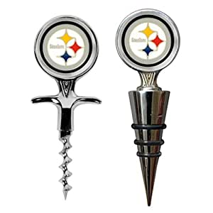 Pittsburgh Steelers Cork Screw and Wine Bottle Topper Set