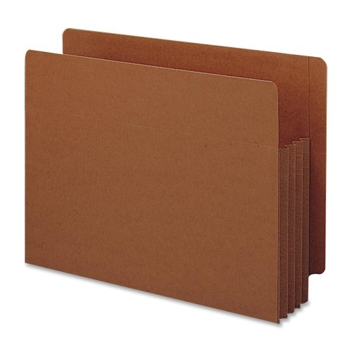 Wholesale CASE of 5 - Smead Tuff Pocket End Tab File Pockets-End Tab File Pockets, 3-1/2'' Exp, 10/BX, Letter, Red