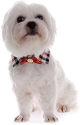 Sotoboo - Corbata para Perro Formal, con Diseño de Cuadros Azules ...