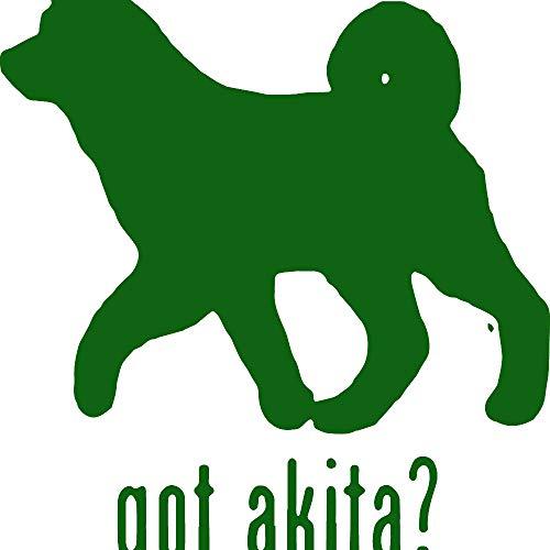 - Animal GOT Akita Dog 1 (Green) (Set of 2) Premium Waterproof Vinyl Decal Stickers for Laptop Phone Accessory Helmet Car Window Bumper Mug Tuber Cup Door Wall Decoration