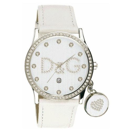 Dolce & Gabbana Women's DW0091 White Leather Quartz Watch with White Dial