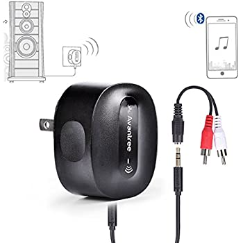 Avantree CHARGE FREE aptX Low Latency Bluetooth Receiver for Home Stereo, Speakers, HiFi, Wireless Audio Adapter Supports 3.5mm or RCA - Roxa Plus [2 Year Warranty]