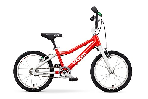 "Woom 3 Pedal Bike 16"", Ages 4 to 6 Years. Red (Bike Crank Length)"