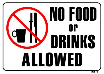 Image result for no food or drink