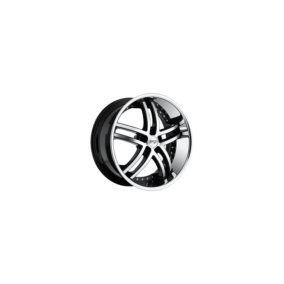 Niche Essence 22x9 Machined Black Wheel / Rim 5x120 with a 38mm Offset and a 72.60 Hub Bore. Partnumber M877229021+38