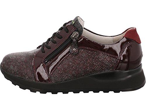 de repujado 401053 364023 de mujer cordones Waldläufer para morado Zapatos cuero CBUqXXw