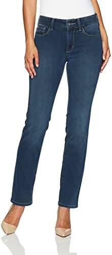 NYDJ Women's Petite Size Marilyn Straight Leg Jeans in Future Fit Denim
