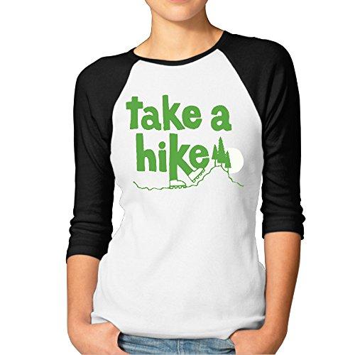 Price comparison product image BMW47' Women's Take A Hike 3 / 4 Sleeve Raglan Tee T Shirt - X-Large