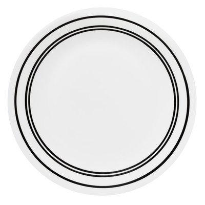 """Livingware Classic Café 8.5"""" Dessert Plate  Color: Black"""