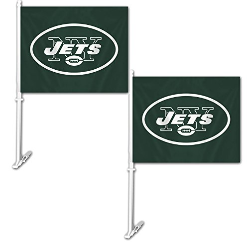 (Official National Football League Fan Shop Authentic NFL 2-pack Car Window Flags. Show Team Pride with these 11.5