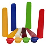 Ice Pop Molds - Non Toxic BPA Free - Boxed Flexible Set of Four - Professional Silicone Large for Unique Frozen Flavor Popsicle for All the Family -Best Instant Freezer Ice Pop Makers -Easy How to Make Your Own Affordable Pops -Lifetime Guarantee