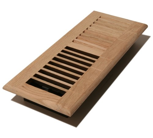 Decor Grates WL410-U 4-Inch by 10-Inch Wood Louver Floor Register, Unfinished - Floor Vent Wood
