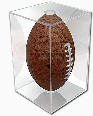 NFL - NCAA BallQube Football Holder Sports Memorabilia Display (Autograph Football Case)