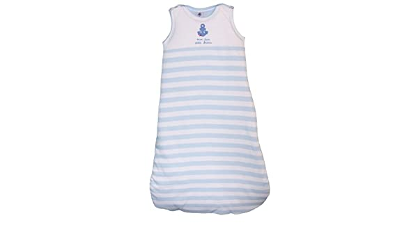 Petit Bateau - 66005 - Saco de dormir para bebé niño - rayas - azul pastel/blanco: Amazon.es: Bebé