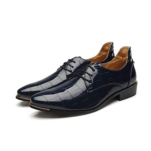 Mocassini da amp; Shoes XUE Traspirante Casual Scarpa Party formale in pelle Comfort lucide Primavera Lavoro Driving Scarpe Evening d'affari stringate Estate Oxfords uomo B 0tqtUr