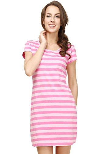 Women Lightweight Petite Nightwear Femme Home Dresses Cotton Knitted Pj Gowns