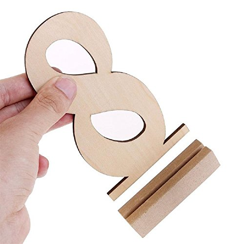 Wooden Wedding Table Numbers 1-20 by BestOffer | Wood Table Numbers with Holders Heavy Duty 20pcs Set for Party Birthday Banquet Catering Wedding Events Table Number Centerpiece by Bestoffer (Image #3)
