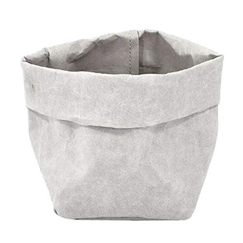 [해외]NATFUR Washable Kraft Paper Storage Bag Succulent Plant Pot 10x10x20cm Grey / NATFUR Washable Kraft Paper Storage Bag Succulent Plant Pot 10x10x20cm Grey