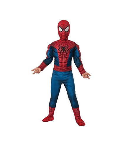 Amazing Spiderman 2 Costumes (Amazing Spiderman 2 Boy's Movie Muscle Costume, Large (12-14))