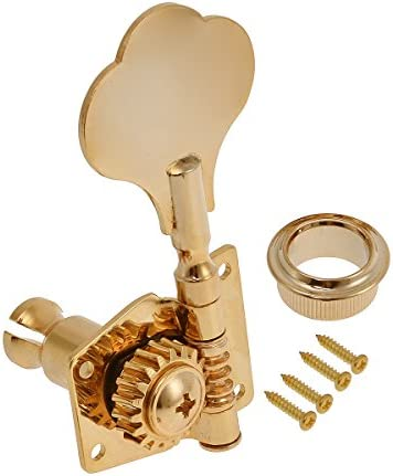Gold Set of 4R Bass Guitar String Tuning Machine Heads Tuning Pegs Tuners Keys