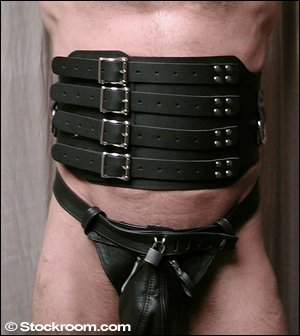 0243ce161e Amazon.com  Heavy Leather Waist Cincher