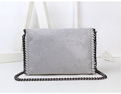 Bags Women Leather Shoulder Ladies Grey Bag Bag Clutch Handbag PU Fashion Chain Crossbody RIw8rqRx