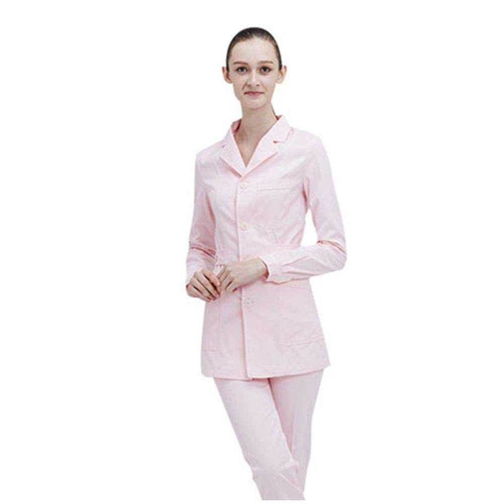 OPPP Ropa médica Mujeres Traje de Enfermera Ropa médica Ropa de Hospital Trajes de médicos Uniforme de salón de Belleza Escudo Femenino + Pantalones Ropa de ...