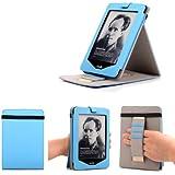Mulbess - Amazon Kindle Touch Stand Funda Cover - Funda fina con tapa soporte para Kindle Touch Color Azul