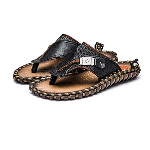 言語高度縁石トングサンダル 大きいサイズ ビーチサンダル スリッパ メンズ 軽量 通気 履き歩きやすい 折畳可 コンフォート レザー 滑り止め 夏用靴 ビジネスサンダル ドライビング ブラック ブラウン 室内履き ビーチ