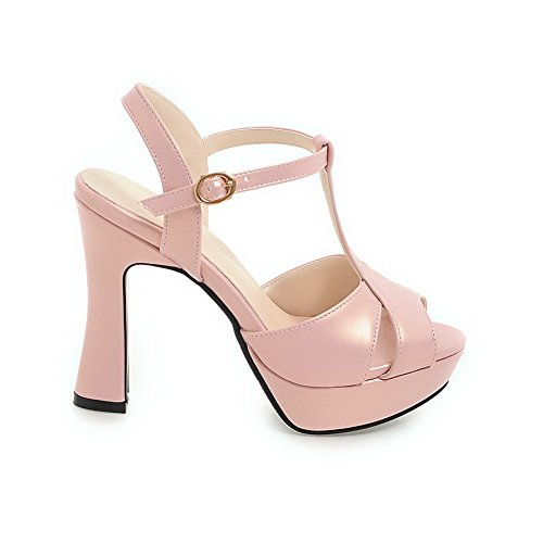 5 Ouvert Rose AdeeSu Femme 36 Bout SLC04103 Rose 0ETqR8aw