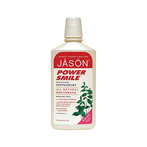 Jason Natural Cosmetics  Powersmile Mouthwash, Peppermint, 16 oz