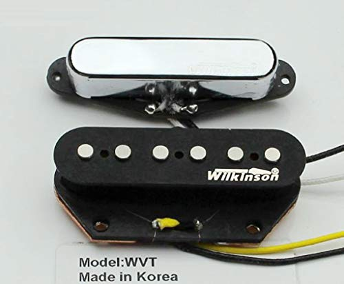 NEW - Wilkinson 60's WVT Vintage Style Alnico V Pickups for Telecaster Tele Guitar (Chrome ()