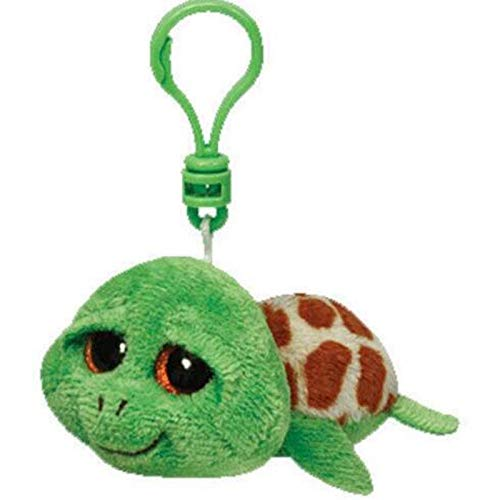 Big Eyes Plush Keychain Toy Doll Fox Owl Dog Unicorn Penguin Giraffe Leopard Monkey Dragon with Tag 4[ 10cm] (Turtle K) ()