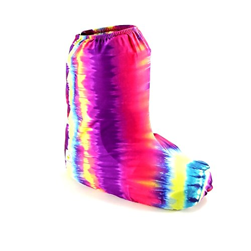 My Recovers Walking Boot Cover for Fracture Boot, Fashion Cover in Tie Dye, Short Boot, Made in USA, Orthopedic Products Accessories (MD) ()