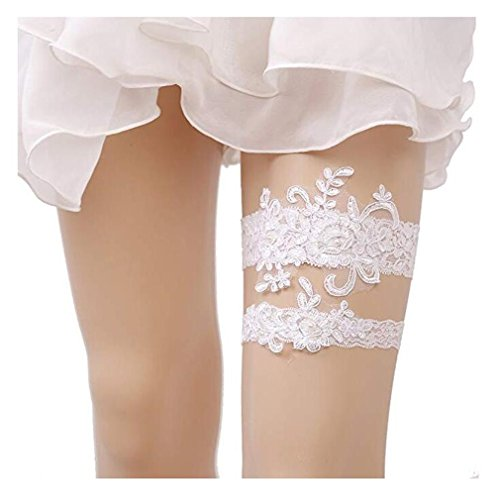 Lace Bridal Garter Set - Bhwin Rhinestones Lace Wedding Bridal Garter Belt Set (C)