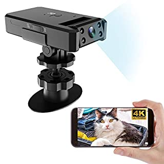 OVEHEL 4K Spy Camera Wireless Hidden WiFi Camera Indoor Home Security with Remote View Nanny Camera with Night Vision,Motion Detection,160 Ultra Wide Angle Support ISO/Android (4K)