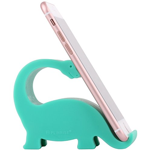 Scomer Silicone Lifelike Dinosaur Tanystropheus Cute Cell Phone Stand, Creative Universal Phone IPad Tablet Mounts Holder,Turquoise Color